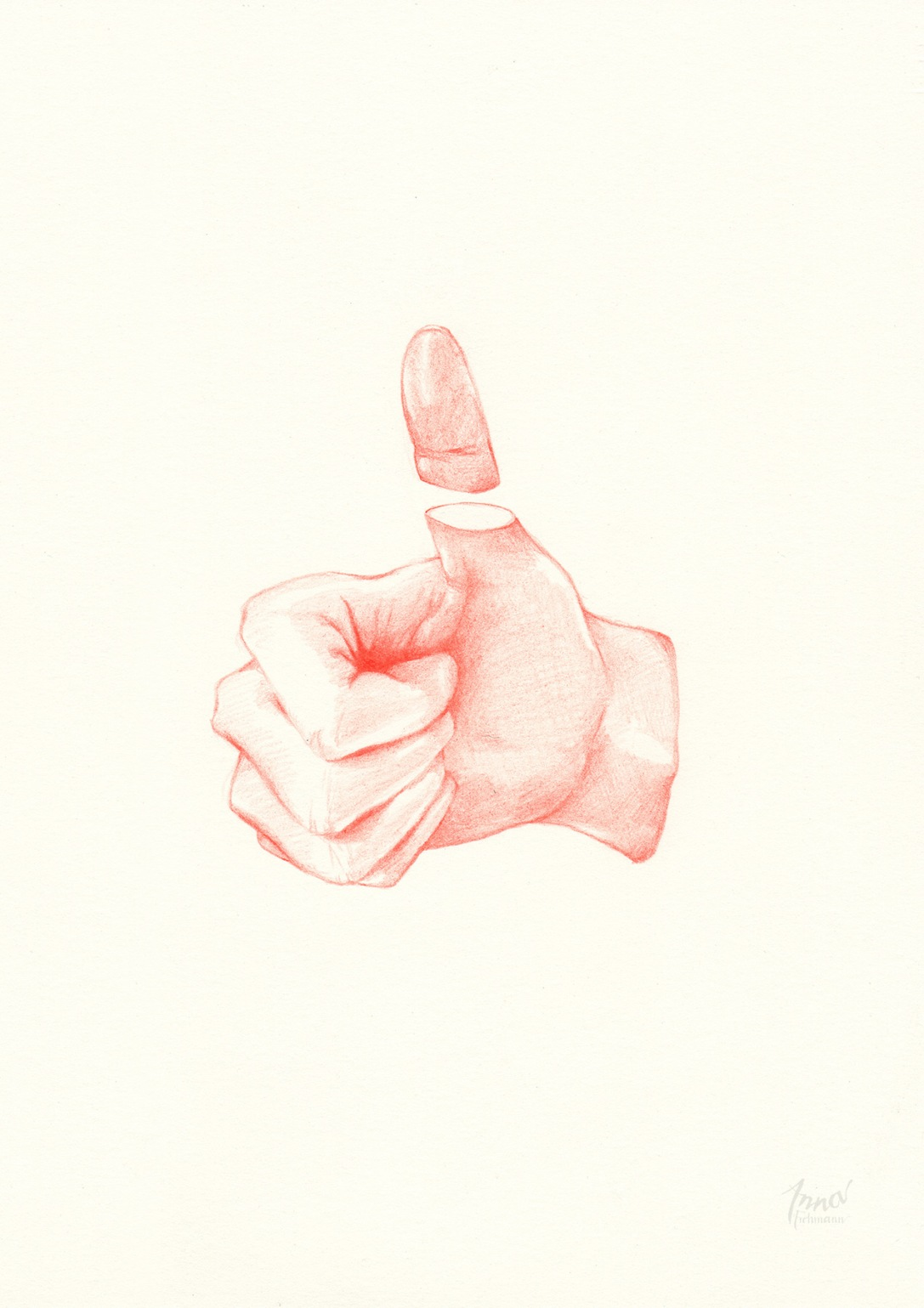 THUMBS UP | pencil on paper