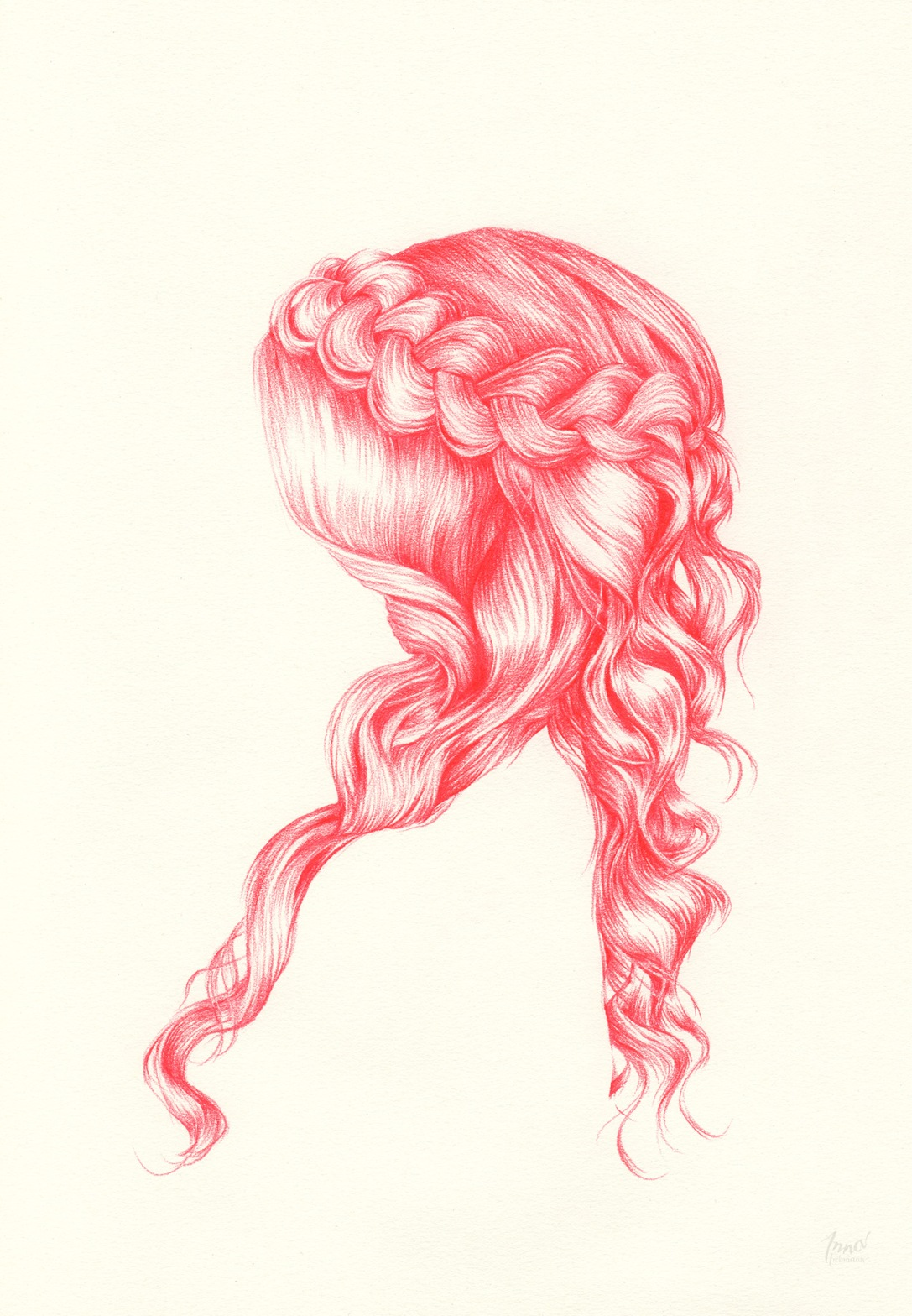 BRAIDED II | pencil on paper