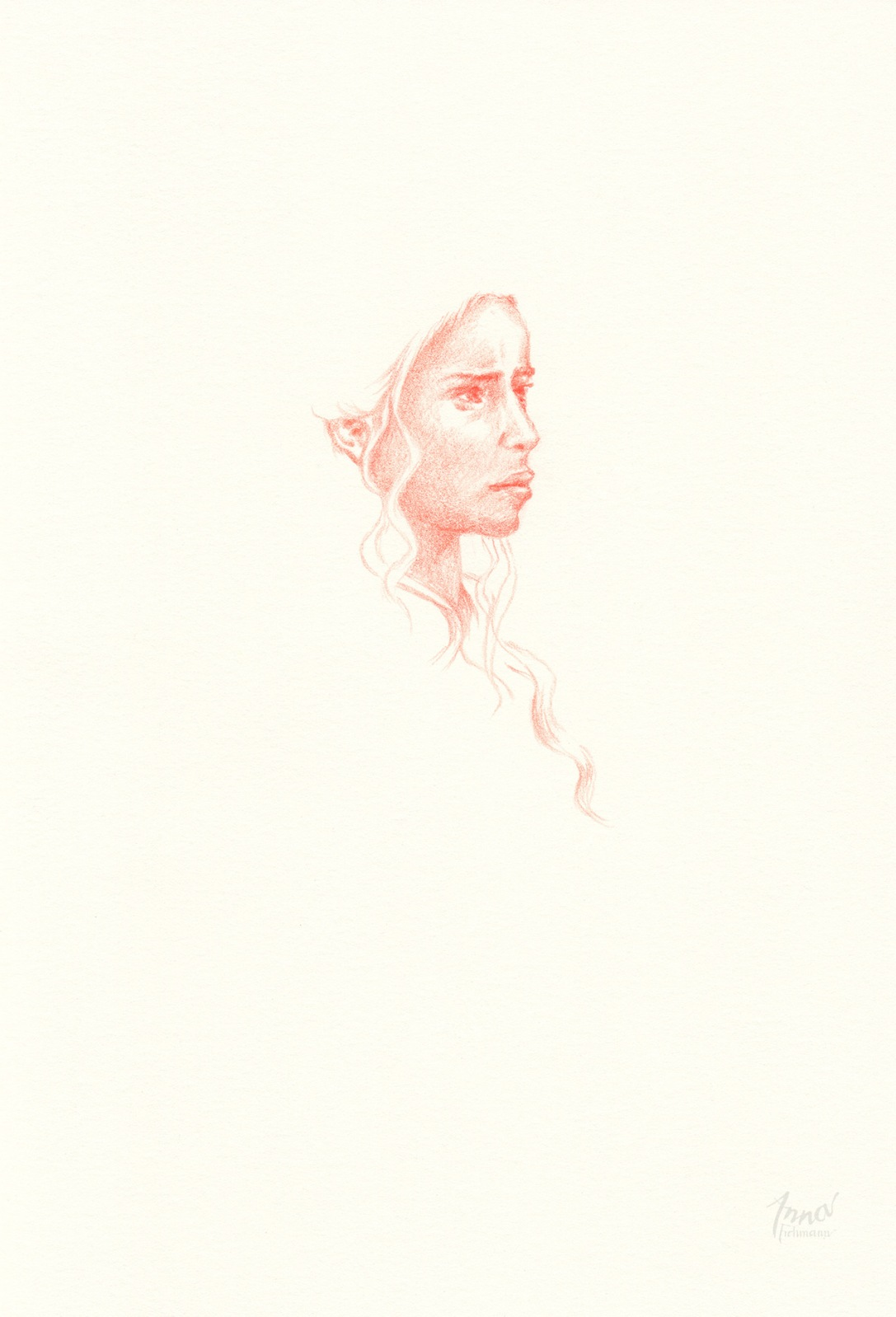 KHALEESI | pencil on paper