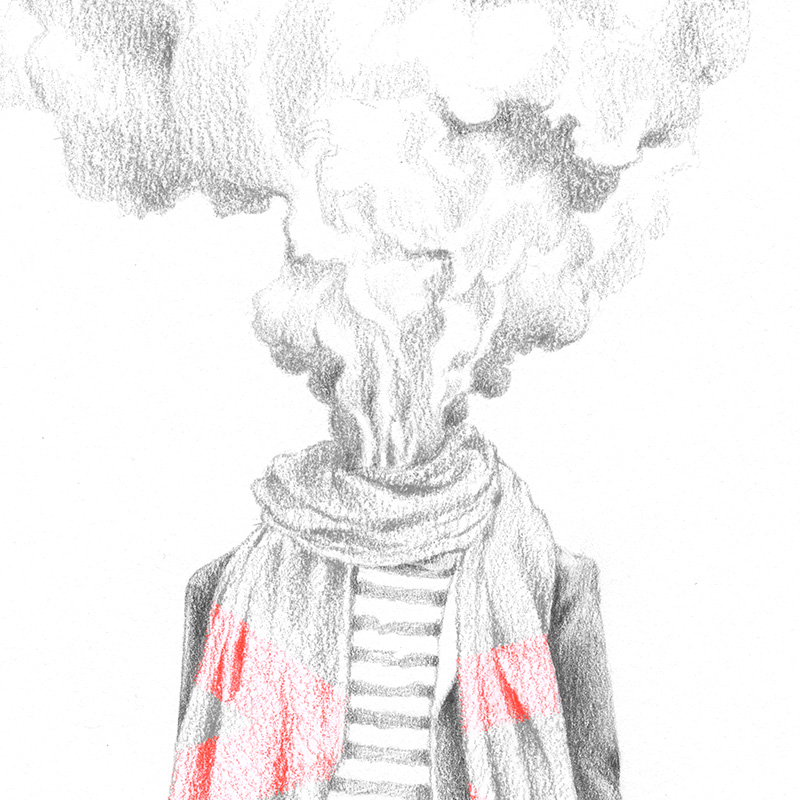 HEADLESS | pencil on paper