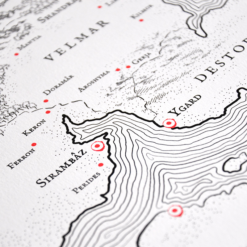 MAP OF THE SOUTHERN LANDS | Adobe Illustrator
