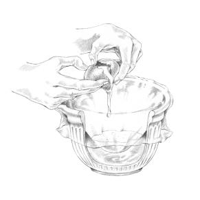 Tipps & Tricks Illustrationen | Ei aufschlagen